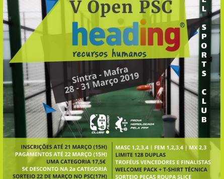 V Open PSC Heading – Categoria 2500